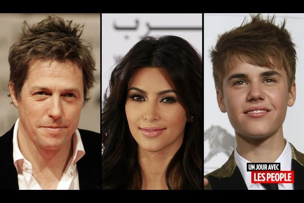 Hugh Grant, Kim Kardashian et Justin Bieber