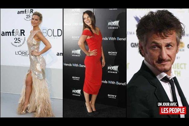 Bar Refaeli, Mila Kuni et Sean Penn