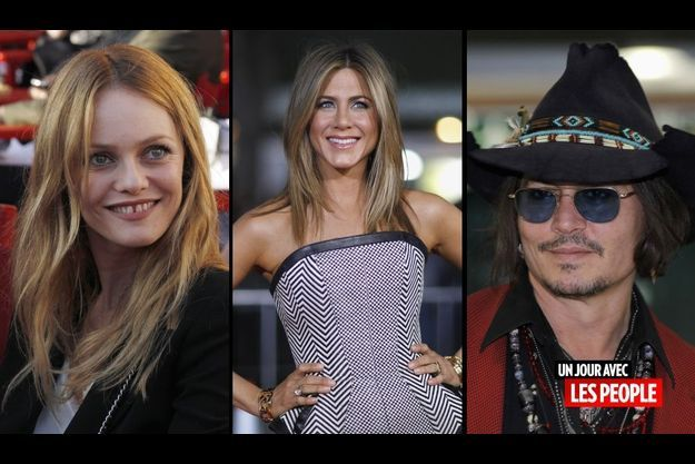 Vanessa Paradis, Jennifer Aniston et Johnny Depp