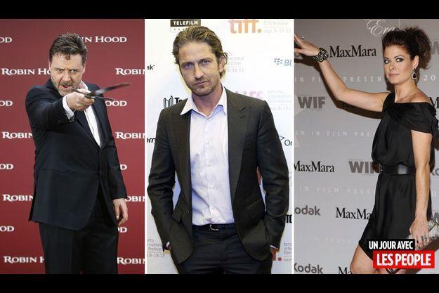 Russell Crowe, Gerard Butler et Debra Messing.