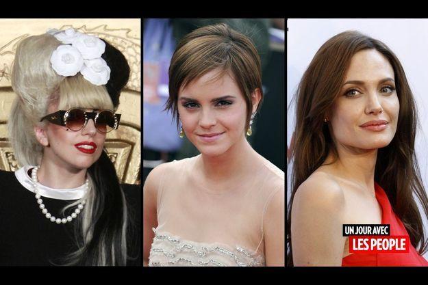 Lady GaGa, Emma Watson et Angelina Jolie
