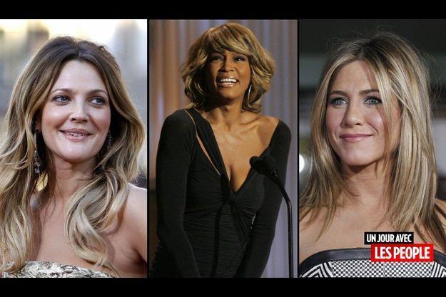 Drew Barrymore, Whitney Houston et Jennifer Aniston