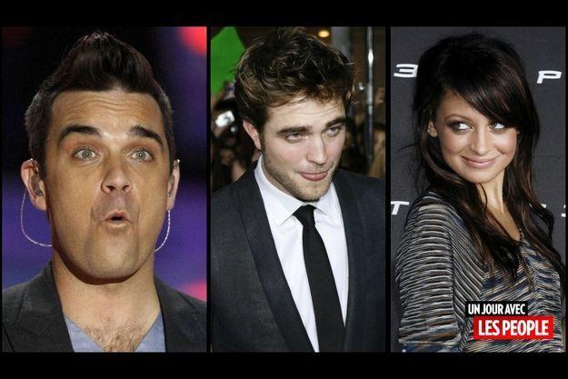 Robbie Williams, Robert Pattinson, Nicole Richie