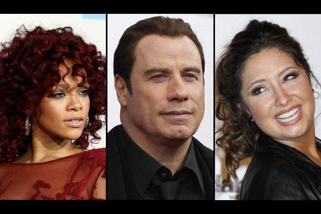 Rihanna, John Travolta et Bristol Palin