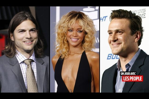 Ashton Kutcher, Rihanna et Jason Segel
