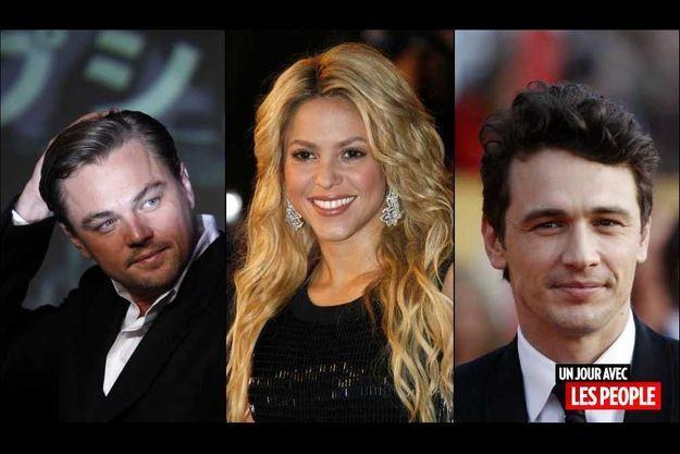 Leonardo DiCaprio, Shakira et James Franco.