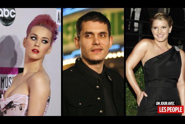 Katy Perry, John Mayer et Jessica Simpson.
