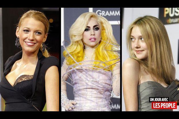 Blake Lively, Lady Gaga et Dakota Fanning.