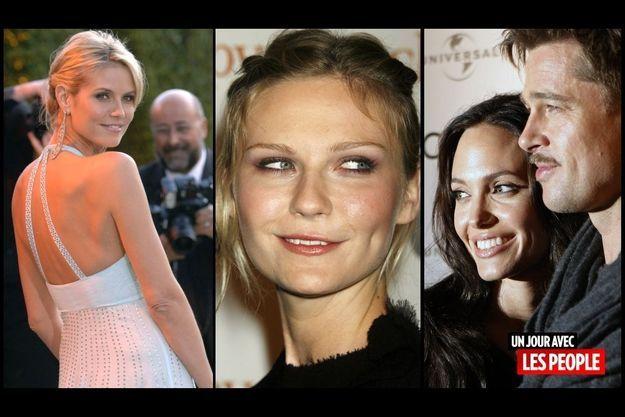 Heidi Klum, Kirsten Dunst, Angelina Jolie et Brad Pitt