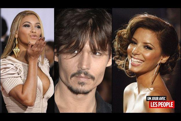 Beyonce, Johnny Depp, Eva Longoria