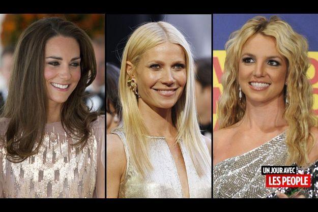 Kate Middleton, Gwyneth Paltrow et Britney Spears