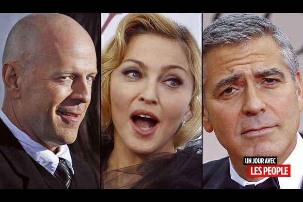 Bruce Willis, Madonna, George Clooney