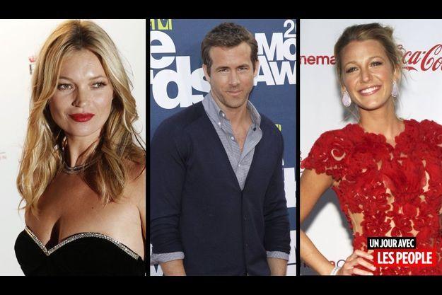 Kate Moss, Ryan Reynolds et Blake Lively.