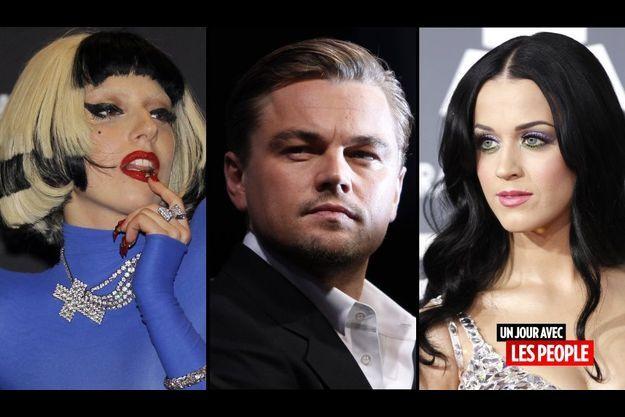 Lady GaGa, Leonardo DiCaprio, Katy Perry
