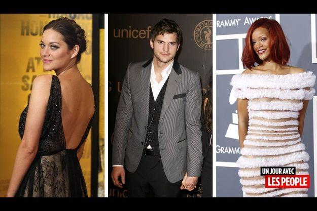 Marion Cotillard, Ashton Kutcher et Rihanna.