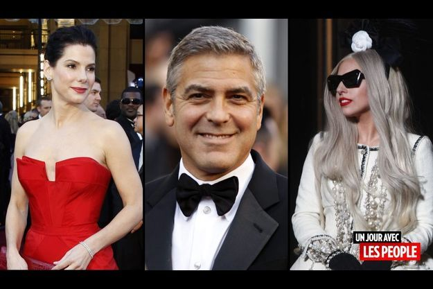 Sandra Bullock, George Clooney et Lady GaGa