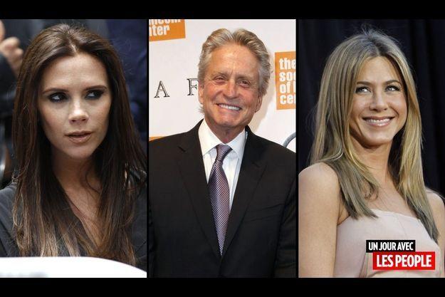 Victoria Beckham, Michael Douglas et Jennifer Aniston.