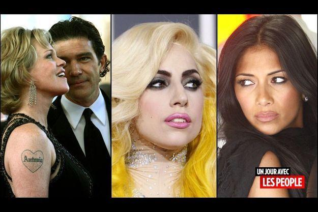 Melanie Griffith et Antonio Banderas, Lady GaGa, Nicole Scherzinger