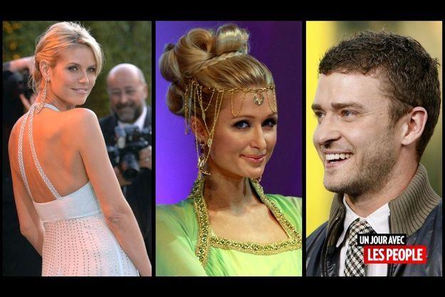 Heidi Klum, Paris Hilton, Justin Timberlake