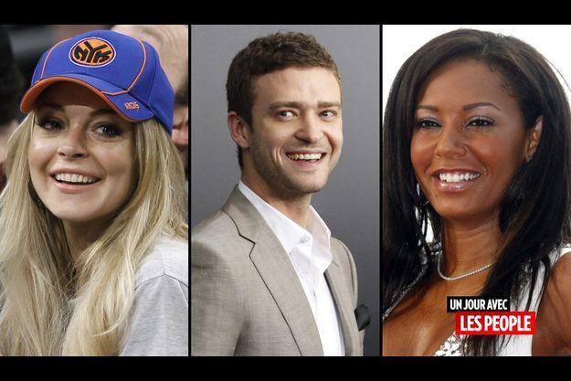 Lindsay Lohan, Justin Timberlake et Melanie Brown