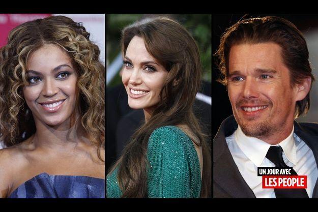 Beyoncé, Angelina Jolie et Ethan Hawke