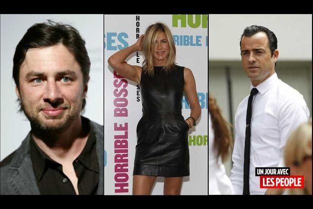 Zach Braff, Jennifer Aniston et Justin Theroux.