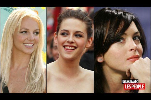 Britney Spears, Kristen Stewart et Lindsay Lohan