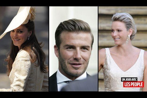 Catherine Middleton, David Beckham et Charlene