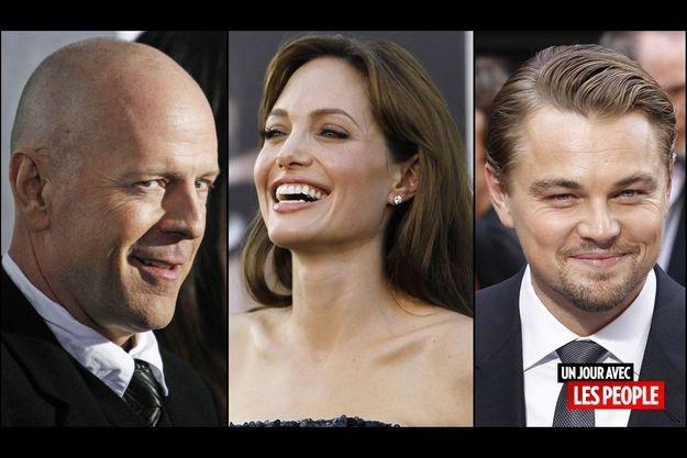 Bruce Willis, Angelina Jolie et Leonardo DiCaprio.