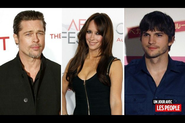 Brad Pitt, Jennifer Love Hewitt et Ashton Kutcher.