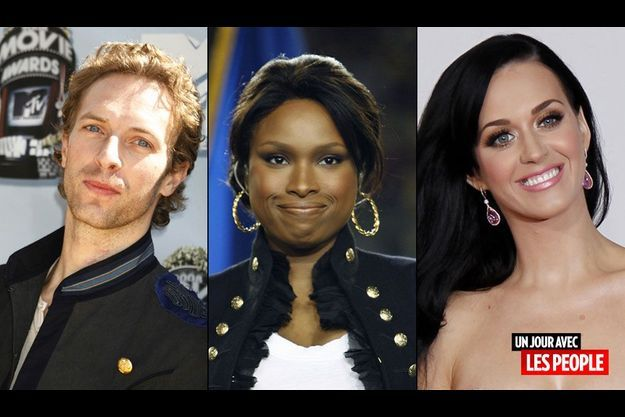 Chris Martin, Jennifer Hudson et Katy Perry.