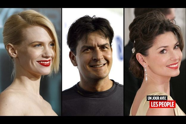 January Jones, Charlie Sheen et Shania Twain