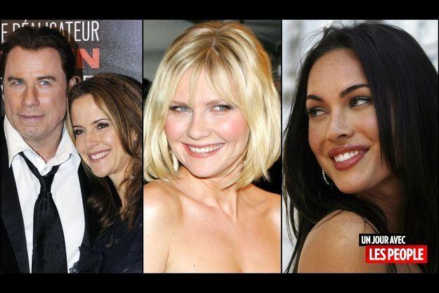 John Travolta et Kelly Preston, Kirsten Dunst, Megan Fox