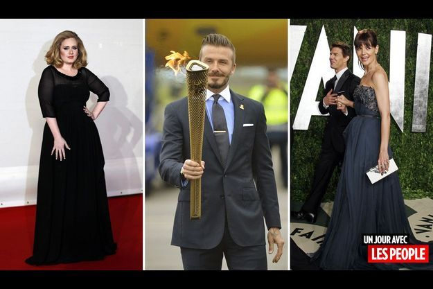 Adele, David Beckham, Tom Cruise et Katie Holmes.