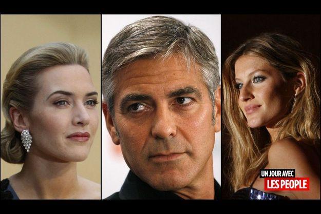 Kate Winslet, George Clooney, Gisele Bündchen