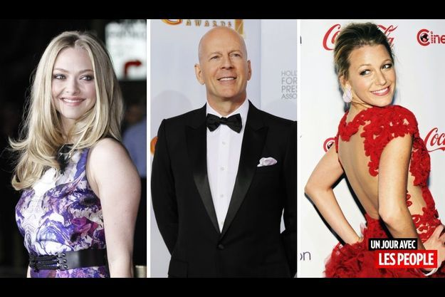 Amanda Seyfried, Bruce Willis et Blake Lively.