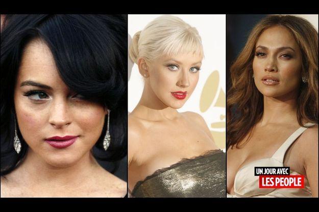 Lindsay Lohan, Christina Aguilera, Jennifer Lopez