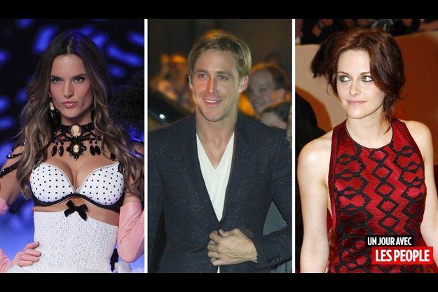 Alessandra Ambrosio, Ryan Gosling et Kristen Stewart.