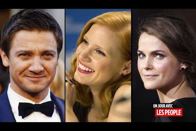 Jeremy Renner, Jessica Chastain et Keri Russell.