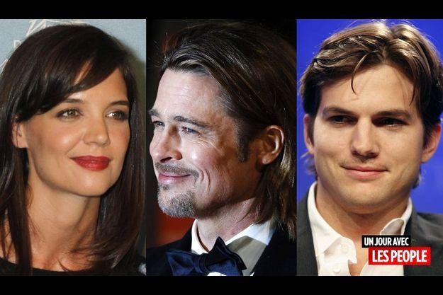 Katie Holmes, Brad Pitt et Ashton Kutcher