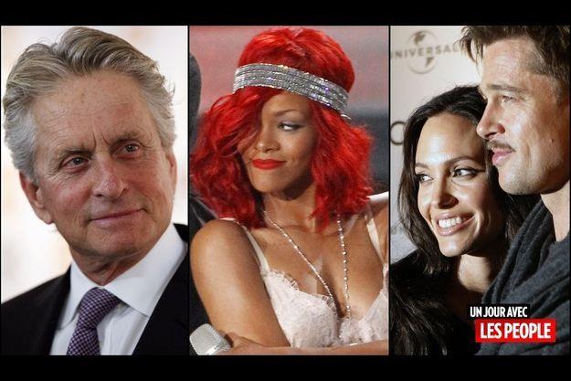 Michael Douglas, Rihanna, Angelina Jolie et Brad Pitt