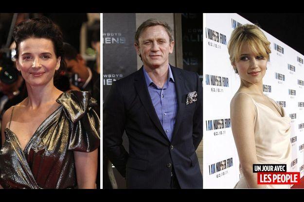 Juliette Binoche, Daniel Craig et Dianna Agron.