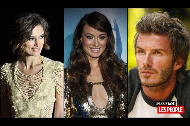 Keira Knightley, Olivia Wilde et David Beckham