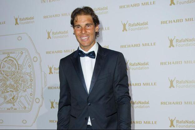 """Nadal à son arrivée à l'hôtel InterContinental pour sa fondation """"RafaNadal Foundation""""."""