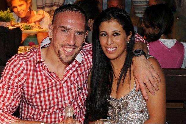 Franck Ribéry et son épouse Wahiba en 2012