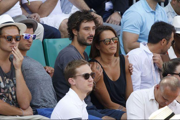 Jérémy Frérot et Laure Manaudou à Roland-Garros.