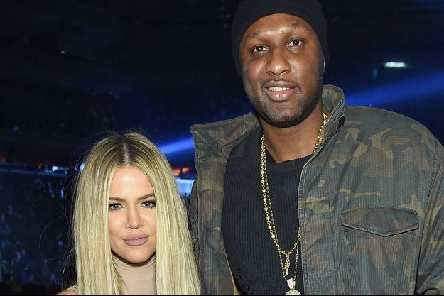 Khloé Kardashian et Lamar Odom à New York le 11 février 2016.