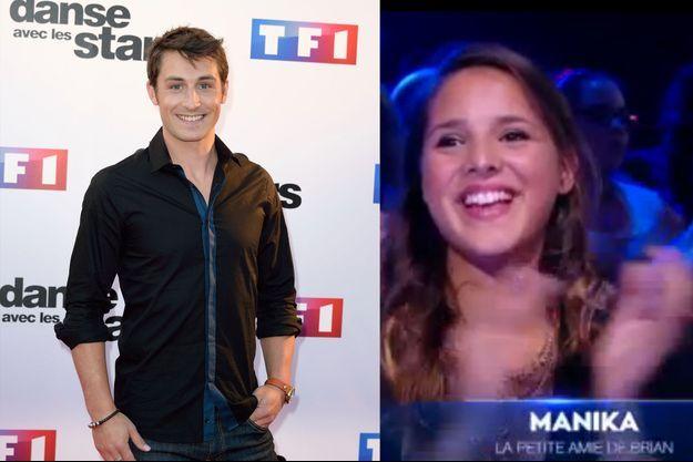 Brian Joubert et sa petite-amie Manika, en 2014