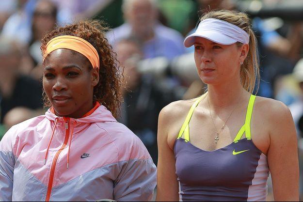 Maria Sharapova et Serena Williams à Roland Garros.