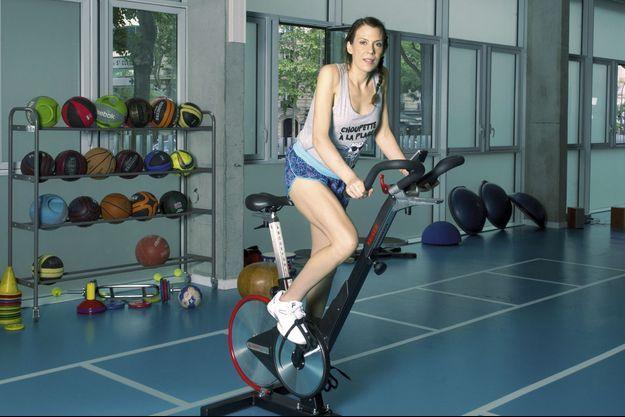 Marion Bartoli au Centre national d'entraînement du tennis, porte d'Auteuil.